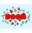 Comic book Cartoon - boom explosion Splash with vector image