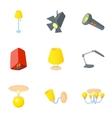 Light equipment icons set cartoon style vector image