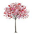 valentine tree with hearts vector image vector image