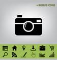 digital photo camera sign  black icon at vector image