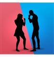 Couple argue fight vector image vector image