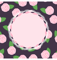 Seamless pattern of pretty pink roses with place f vector image vector image