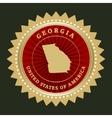 Star label Georgia vector image vector image