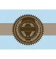 heraldic bookmark vector image vector image