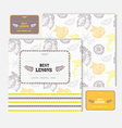 fruit cards set vector image vector image