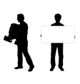 two men silhouettes vector image