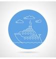 Cruise ship blue icon vector image