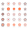 Stars and rotation vector image