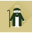 Flat icon with long shadow Father of Jesus Christ vector image