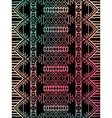 Aztec tribal mexican pattern vector image