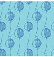 blue decoration floral pattern vector image