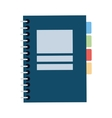 closed wired notebook icon vector image