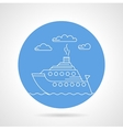 Cruise ship blue icon vector image