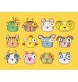 cute animal set vector image