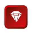 diamond gem isolated icon vector image