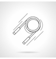 Expander flat line icon vector image