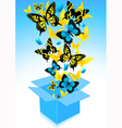 Flying out butterflies vector image