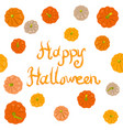 halloween pumpkins greeting card vector image