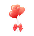 happy valentines day greeting card 3d red and vector image