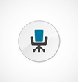 Office chair icon 2 colored vector image