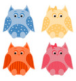 owls2 vector image