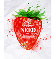 Poster watermelon Strawberry vector image