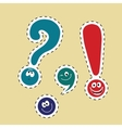set of funny smiley punctuation vector image
