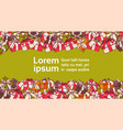 template banner for copy space with present boxes vector image