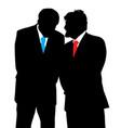 two businessmen discreet conversation vector image