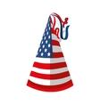 hat flag usa america vector image