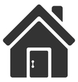 Closed House Door Flat Icon vector image