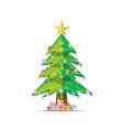background tree Christmas xmas vector image vector image