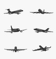 set of symbols passenger airplane vector image
