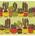 Succulents garden - seamless pattern vector image