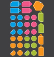 Set of labels with peeled back corner vector image vector image