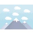 Mountain pixel art vector image