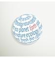 Eco planet icon vector image vector image