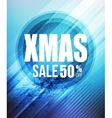 Christmas sale party poster or flyer vector image