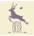 deer jumping vector image