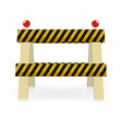 fence light construction icon under construction vector image