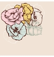 Floral background in pastel colors Flowers vector image