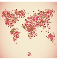 Flower World Map Eco Abstract background vector image