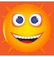 funny sun smile vector image