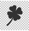 Leaf clover sign Dark gray icon on transparent vector image