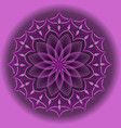 light purple mandala in optical art style for vector image