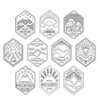 Mountain badges linear 1 vector image