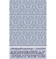 alphabet plus pattern vector image vector image
