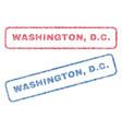 washington dc textile stamps vector image