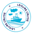 leisure cruise vector image vector image