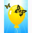 Butterflies and balloon vector image